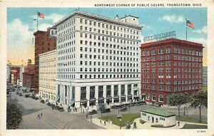 Youngstown Ohio 1933 Postcard Northwest Corner of Public Square