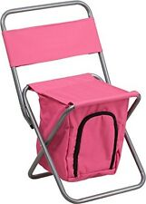 Flash Furniture Folding Camping Chair w/Insulated Storage in Pink - TY1262-PK-GG