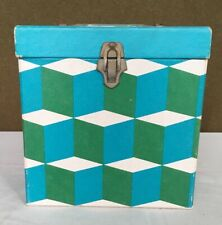 Vintage Psychedelic 45 Record Tote FULL Case Pack Green Blue Pattern
