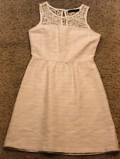 The Limited Lace Top Dress Size 6 Off White Cream Knee Length Dress EUC