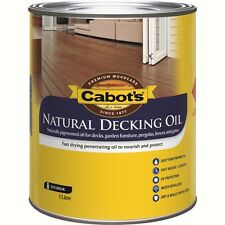 Cabot's 1L Merbau Natural Decking Oil