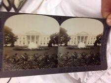Stereoview Keystone Views ,The White House Washington Dc 1900's