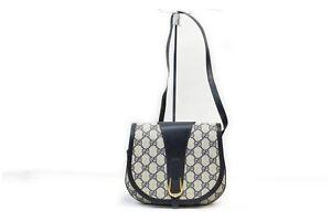 Gucci Shoulder Bag  Navy Blue PVC 1411334