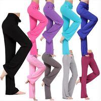 C172 Lady's Soft Comfort Cotton Spandex Yoga Sweat Lounge Gym Sports Pants  AU