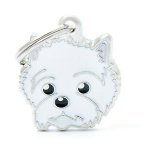 West Highland Terrier Dog ID Tag (55) - Engraved FREE- Personalised - Charm