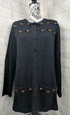 Susan Bristol Women's Cardigan Size L Vintage 1998 A27
