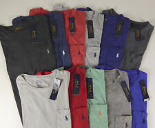 Polo Ralph Lauren 100% Cotton T-shirt Chest Pocket & Embroidered Pony NWT $39-49