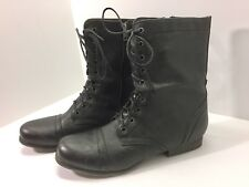 Madden Girl Gamer Womens Lace Up Combat Military Ankle Boots Size US 11M Black