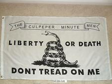 3' X 5' CULPEPER - DON'T TREAD ON ME - TEA PARTY  FLAG 3X5
