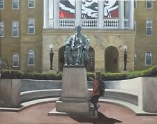 Abe's Lucky Foot 16x20 original oil painting UW Madison Abe Lincoln, Bascom Hill