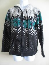 Sweater Jacket With Hood  Womens Size Medium.