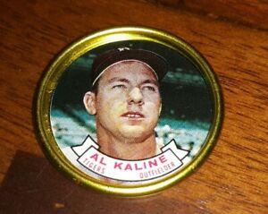 1964 Topps Baseball Coin Pin #100 Al Kaline Detroit Tigers Nice