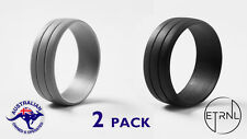 Men's Silicone Active Wedding Ring | 2 Line - 2X Pack