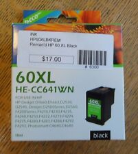 EcoPlus Ink Cartridge 60XL HE-CC641WN CC641WN HP DeskJet D1660, D1663, D2530