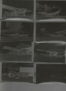 LOT OF 11 VINTAGE AIRCRAFT AIRPLANE ORIGINAL NEGATIVES - LATE 1929s - EARLY 1930