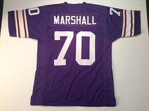 UNSIGNED CUSTOM Sewn Stitched Jim Marshall Purple Jersey - M, L, XL, 2XL