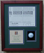Hole In One Golf Trophy w/ scorecard & golf ball