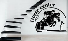Wall Stickers Vinyl Decal Horse Center Rider Equestrian Racing Sport ig260