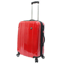 "Traveler's Choice 25"" Red Sedona Pure Polycarbonate Lightweight Spinner Luggage"