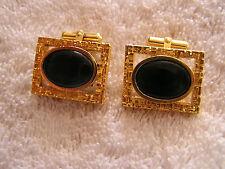 Vintage Destino Cufflinks with Black Stone Super Sharp