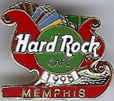Hard Rock Cafe MEMPHIS 1998 Christmas PIN - HOLIDAY Sleigh with XMAS Presents