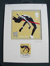 London 2012 Olympic/Paralymic Royal Mail Stamp Postcard Artwork ATHLETICS Ltd Ed