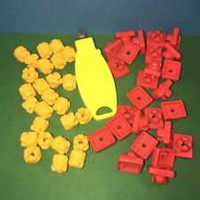 Lots de Clips (25 rouges + 25 jaunes ) playmobil ref 1