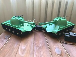 Vintage Soviet Plastic Toy Tank Remote Control USSR Russian Military Tank