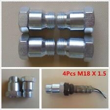 4xUniversal M18X1.5 O2 Oxygen Sensor Test Pipe Extension Spacer Extender Adapter