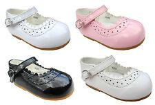 Niña Dama de Honor Bautizo Elegante Boda Zapatos Hebilla UK1-UK8 Bebés