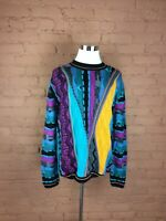 NWT Vintage Men's Steven Land Sweater Size XL Multicolored Long Sleeve H-44
