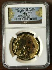 2013-W $50 1OZ REVERSE PROOF GOLD BUFFALO NGC PR-70 ER (100th ANNIVERSARY LABEL)