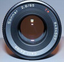 CONTAX Carl Zeiss Sonnar 2.8/85 85mm f/2.8 T* MMG RARE