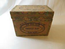 Rare New Deal Hand Made Roosevelt Flats Cigar Box