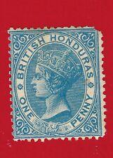 1865 British Honduras Queen Victoria Postage Stamp Scott #1 One Penny