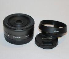 Canon EF-M 22mm f/2 STM Lens For EOS-M2 M3 M10 M5 M50 M6 M100 M10-Mint condition