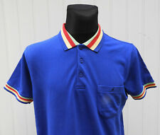Kangol Est 1938 Men's Blue Polo Shirt Short Sleeve Size M