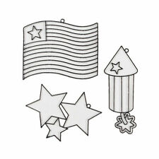 4Th Of July Suncatchers - Craft Supplies - 24 Pieces