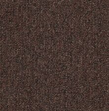 20 Nylon Loop Clipper Brown Heavy Duty CARPET TILES For Commercial Use