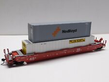 HO Scale - Athearn Burlington Northern Husky Stack Train BN w/ (2) Containers