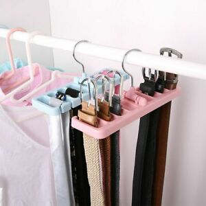 1pcs Multifuction Storage Rack Tie Belt Organizer Rotating Ties Hanger Holder UK