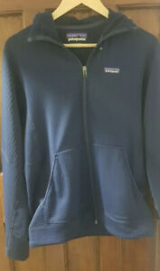 Patagonia R1 Men's Full Zip Hoody Medium Navy
