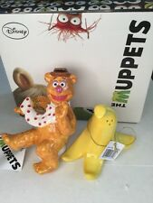 Muppets Fozzie Bear Banana Salt Pepper Shakers Disney NIB