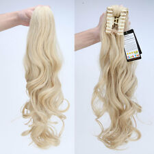 US Stroe Ponytail Clip In Hair Extensions Jaw Claw On Pony Tail As Remy Human wr
