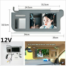 "Left Side 9"" Car 2-Channel Video Sun Visor Rear View Mirror Screen LCD Monitor"