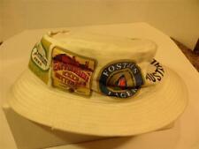 Vintage White Fishermans Hat with Old Beer & Ale Advertising Mens Ambassador
