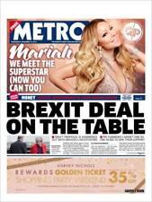 London Metro Newspaper - 14 November 2018, Mariah Carey Front Cover Page