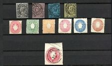 Saxony. 1851, 1855 &1863. A selection of MH and Used stamps.