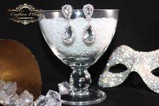 Mode-Ohrschmuck im Hänger-Stil aus Glas mit Tropfen-Schliffform