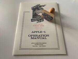 Apple-1 Manual Set | Operation Manual, Basic Manual & Cassette Interface Manual
